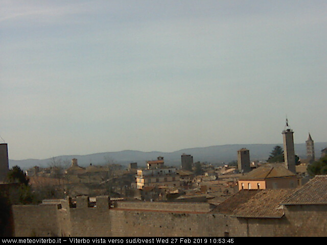 webcam viterbo vista verso sud/ovest