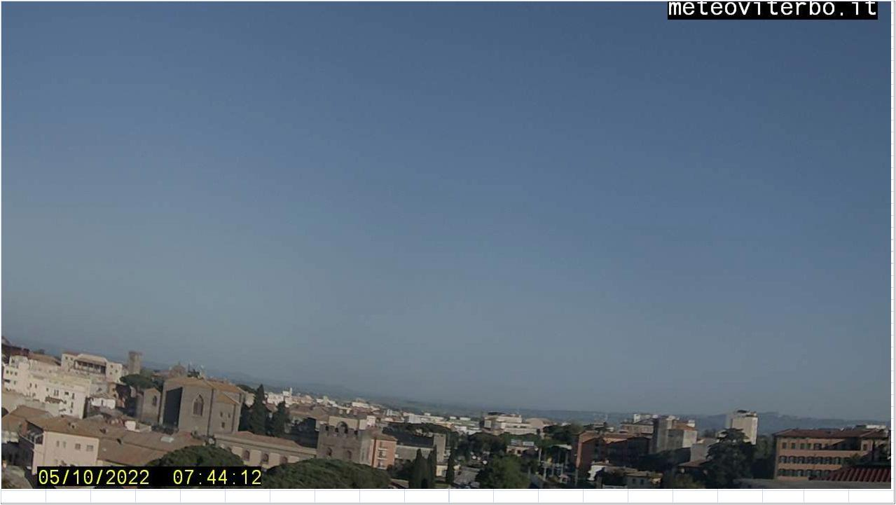 webcam viterbo vista Nord